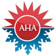 """A logo of the website """"All Hours Air"""" the upper part which is the figure of the sun symbolizes the heat while the lower part which is a snow flakes symbolizes cold"""